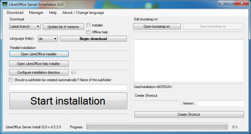 Screenshot of version 4.0.3.5